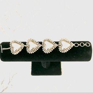 Jewelry - Silver Puffed Hearts Bracelet
